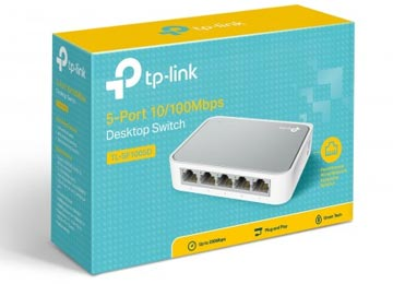 Switch Fast Ethernet TP-Link TL-SF1005D (5Puertos)