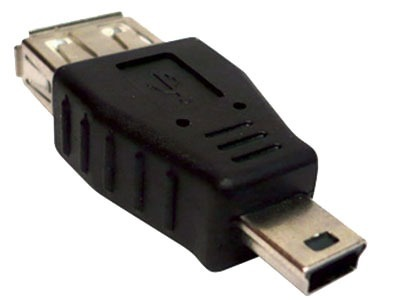 Adaptador USB (h) a mini USB (m)